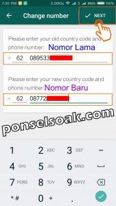 Cara dan efek mengganti nomor whatsapp 5