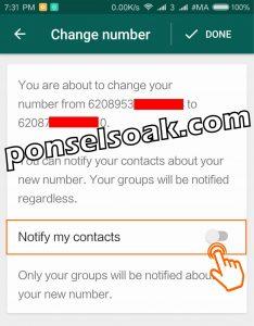 Cara dan efek mengganti nomor whatsapp 6