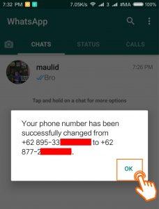 Cara dan efek mengganti nomor whatsapp 9
