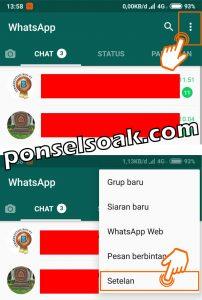 Cara menyembunyikan or menghilangkan status online di whatsapp ketika online 1