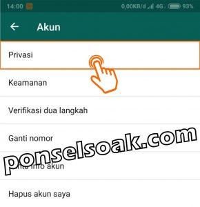 Cara menyembunyikan or menghilangkan status online di whatsapp ketika online 3