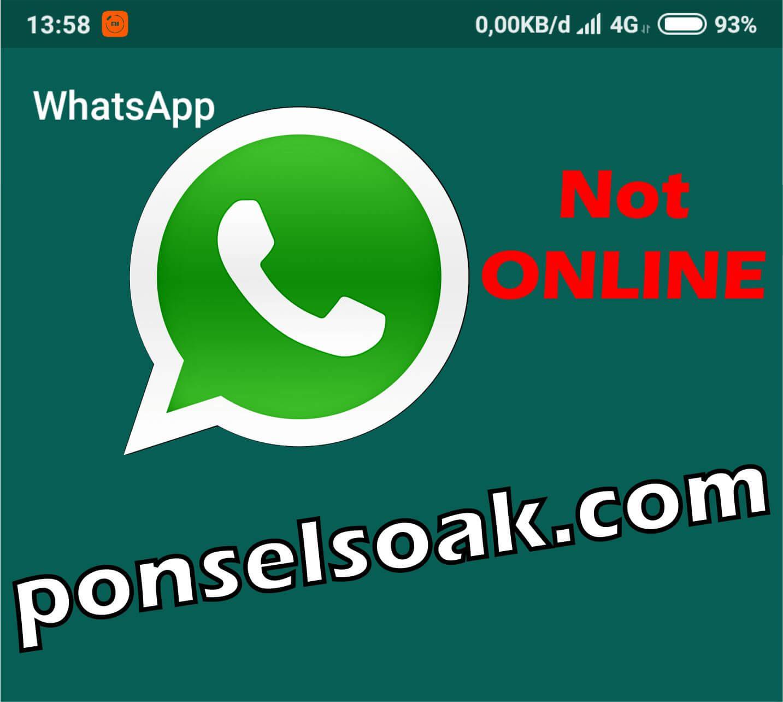 Cara menyembunyikan or menghilangkan status online di whatsapp ketika online