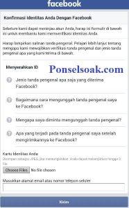 Mengembalikan Akun Facebook Yang Diblokir Melalui Android 5