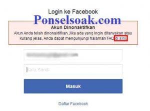 Mengembalikan Akun Facebook Yang Diblokir Melalui Web 2