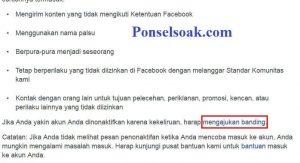 Mengembalikan Akun Facebook Yang Diblokir Melalui Web 7