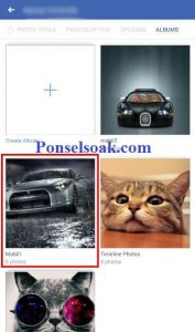 Menghapus Album Foto Facebook Melalui Android 6
