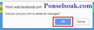 Menghapus Pesan Facebook Messenger Menggunakan Chrome 7