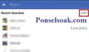 Menghapus Riwayat Pencarian Facebook Melalui Android 4