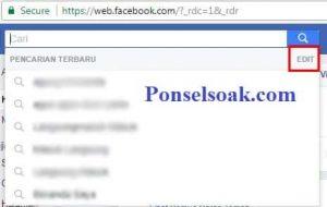 Menghapus Riwayat Pencarian Facebook Melalui PC 2