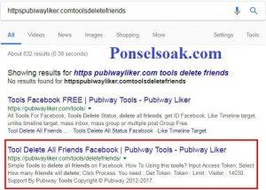 Menghapus Teman Facebook Menggunakan Pubiwayliker.com 1