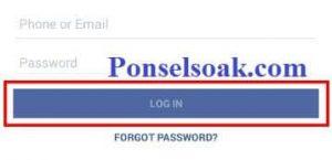 Mengubah Password Facebook Melalui Aplikasi Android 2