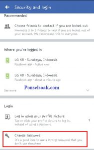 Mengubah Password Facebook Melalui Aplikasi Android 7