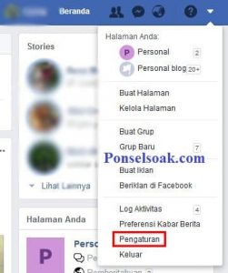 Mengubah Password Facebook Melalui PC 5