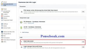 Mengubah Password Facebook Melalui PC 7