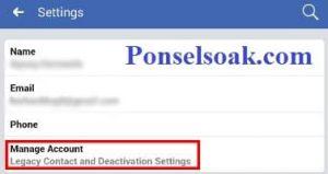 Menonaktifkan Akun Facebook Melalui Android 7