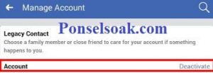 Menonaktifkan Akun Facebook Melalui Android 8