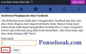 Menonaktifkan Akun Facebook Melalui Web 4