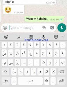 Menulis Hruf Arab di Android Samsung 6