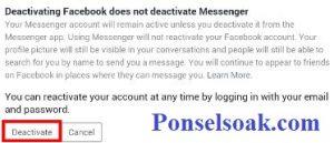 Menutup Akun Facebook Sementara Melalui Android 11