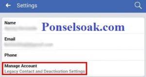 Menutup Akun Facebook Sementara Melalui Android 7