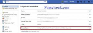 Menutup Akun Facebook Sementara Melalui Web 5