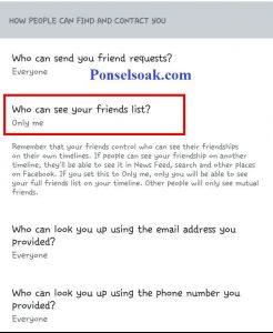 Menyembunyikan Daftar Teman Di FB Melalui Android 11