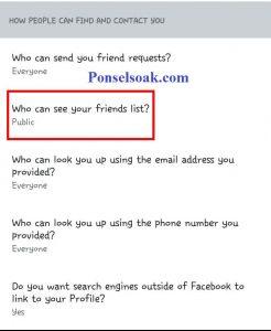 Menyembunyikan Daftar Teman Di FB Melalui Android 8