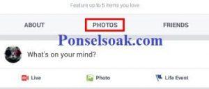 Upload Dan Hapus Foto Profil Facebook Melalui Android 10