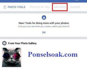 Upload Dan Hapus Foto Profil Facebook Melalui Android 11
