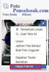 Upload Dan Hapus Foto Profil Facebook Melalui PC 10