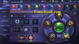 Build Emblem Claude Mobile Legends 1