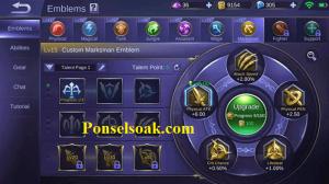 Build Emblem Claude Mobile Legends 2