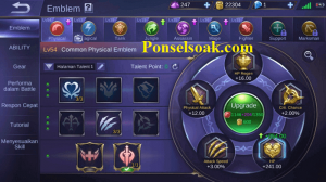 Build Emblem Lancelot Mobile Legends 1