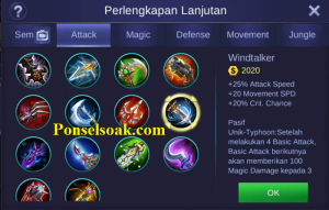 Mau tau build item gear Hero Argus Mobile Legends Tersakit Build Argus Mobile Legends Tersakit