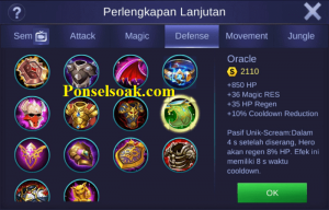Build Gear Chou Mobile Legends 2