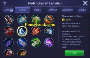 Build Gear Claude Mobile Legends 4