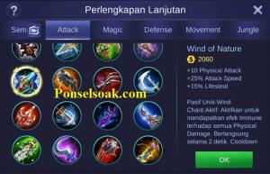 Build Gear Claude Mobile Legends 5
