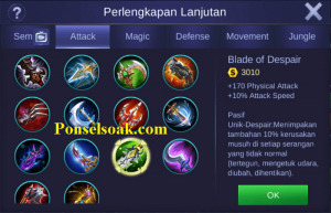 Build Gear Claude Mobile Legends 6
