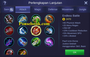 Build Gear Hayabusa Mobile Legends 4