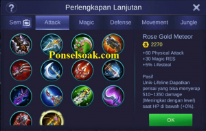 Build Gear Hayabusa Mobile Legends 5