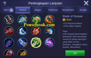 Build Gear Hayabusa Mobile Legends 6