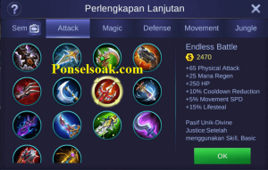 Build Gear Lancelot Mobile Legends 3