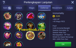 Build Gear Lancelot Mobile Legends 5