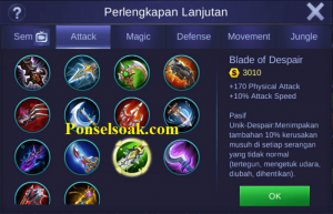 Build Gear Lancelot Mobile Legends 6