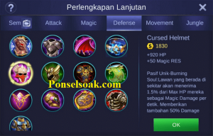 Build Gear Tigreal Mobile Legends 2