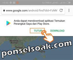 Melacak HP Android Hilang Lewat Internet Dengan Email GPS IMEI 10