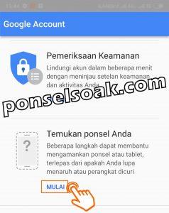 Melacak HP Android Hilang Lewat Internet Dengan Email GPS IMEI 6