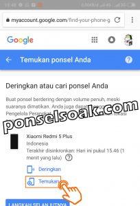 Melacak HP Android Hilang Lewat Internet Dengan Email GPS IMEI 9