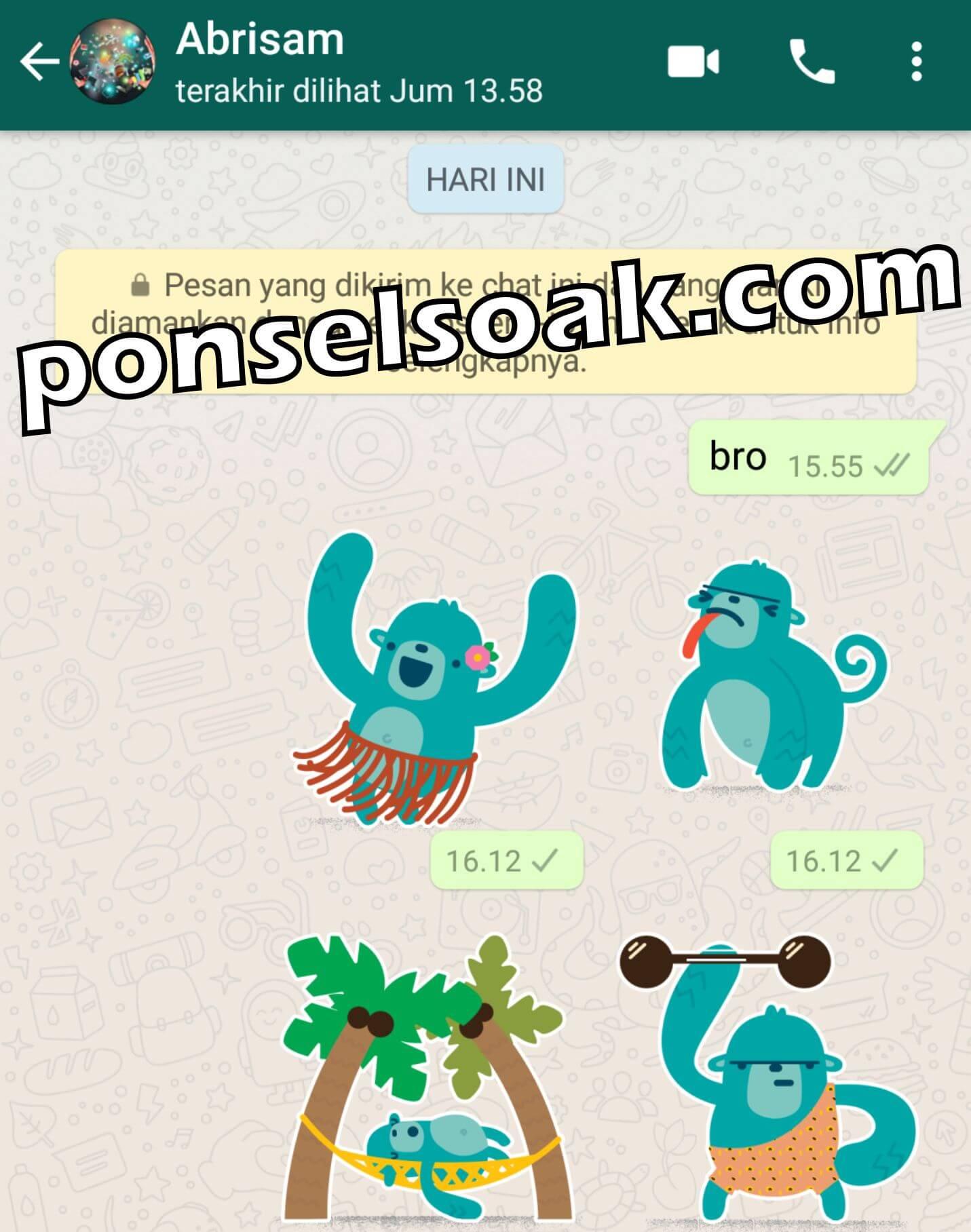 2+ Cara Membuat & Kirim Pesan Stiker Di WhatsApp