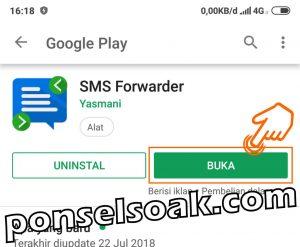 Cara sadap dengan aplikasi SMS Forwader 1